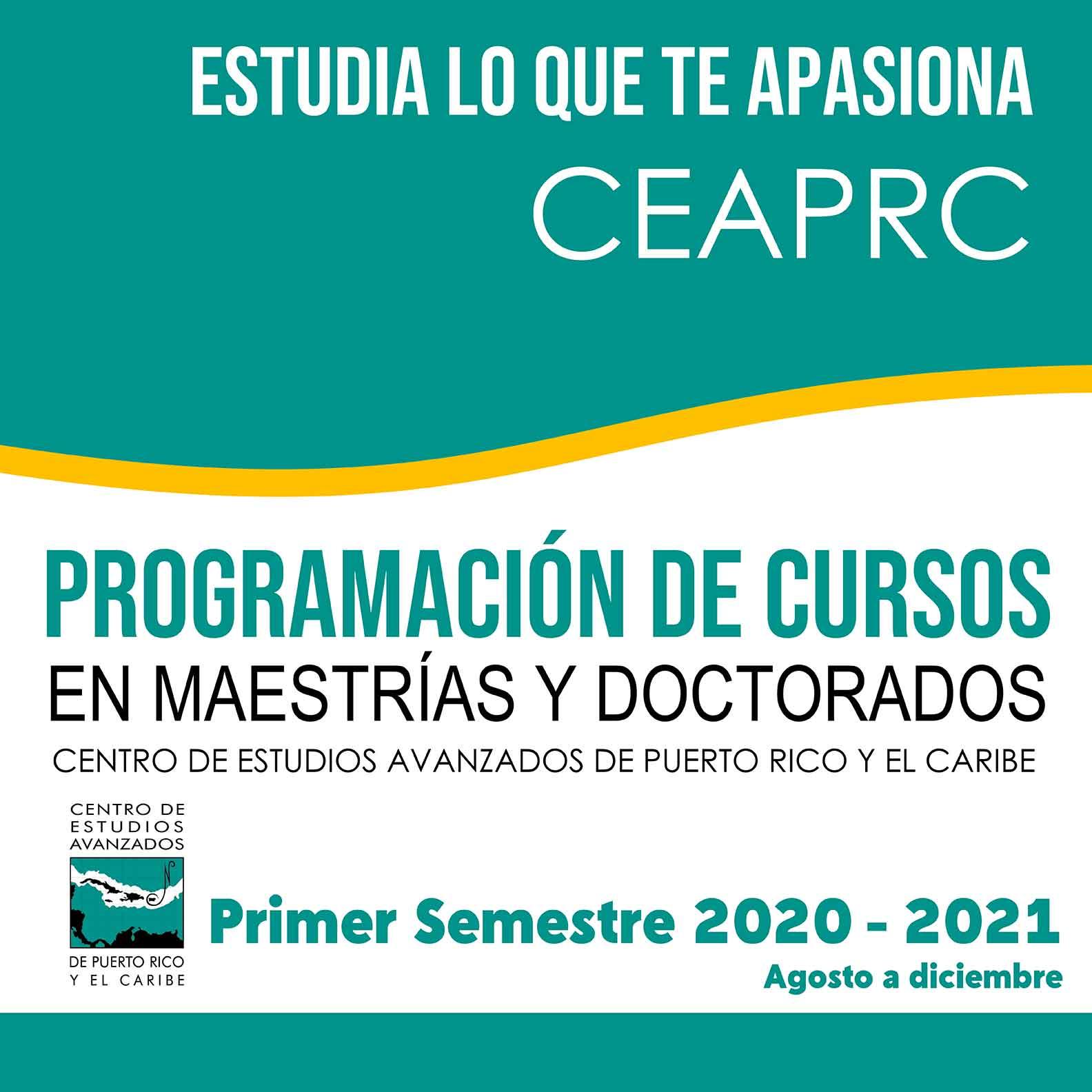 Programación de Cursos - Agosto a diciembre 2020